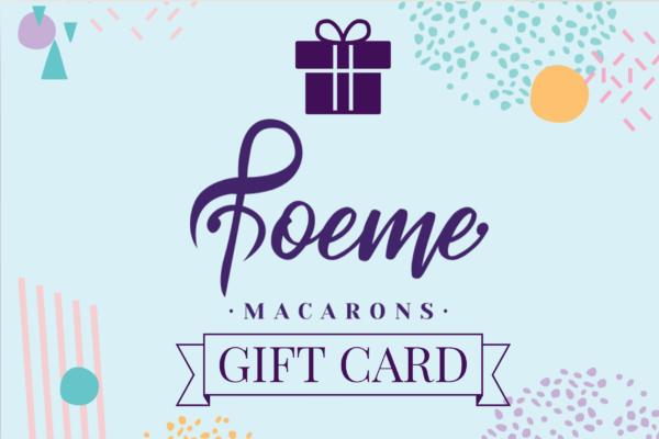 Poeme Macarons gift card